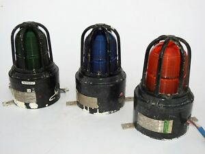 Lot of 3 MEDC Beacons, MEDC Lights & MEDC Strobes Light  XB15 Vintage Maritime