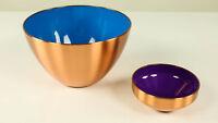 Kupfer - Kunststoff Schalen Schüsseln Vintage Copper Bowls 50er 60er Jahre