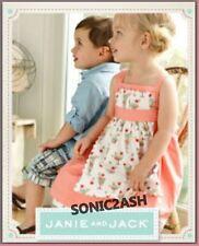NWT Janie & Jack 3 3T ICE CREAM SOCIAL Sundae Apron Dress Peach Cotton Vintage