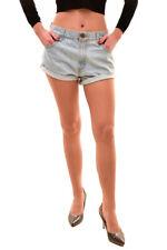 One Teaspoon Womens Vintage Bandits Shorts Light Blue Size S