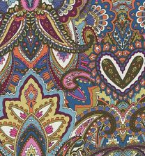 Michael Miller Green Pink Gypsy Heart Floral Paisley Indian Summer Fabric - FQ