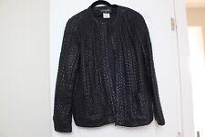Chanel embossed leather jacket