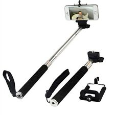 Noir Extensible Selfie Bâton Avec Réglable Support Pour LG V3 Q6 G6 G5 K10 K4