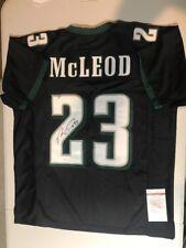 e8f6377d0 Rodney Mcleod Autograph Signed Eagles Black Jersey JSA
