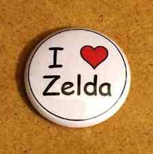 1 Inch I Heart Love Zelda Button Pin Pinback