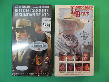 VHS Lot Of 2 Movies. Lonesome Dove & Butch Cassidy. New Sealed.
