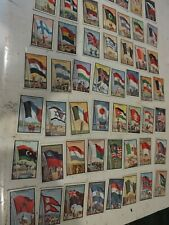 1956 Complete Set Of 99 1956 Topps Flags of the world Midgee Trading Cards