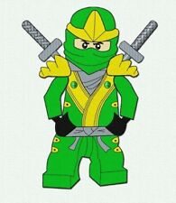Green Ninja Embroidery pattern Lego. Machine Embroidery Ninjago designs for boys