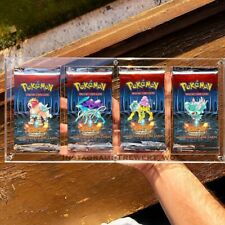 Clear acrylic/Plexiglass case for 4 Pokemon Booster Pack UV RESISTANT ! ovp mint