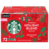 Starbucks Coffee Holiday Blend K-Cup Pod, Medium Roast, 72-count (0985)