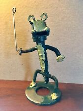 "Vintage Alligator Welded Metal Art Figure, 5.75"" (see description)"