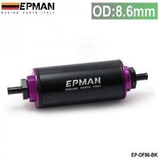 Black Purple Universal Racing 100 Micron Metal Element In Line Fuel Filter