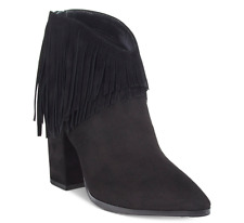 NEW Kenneth Cole Reaction Suede Fringe Booties