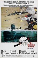ICE STATION ZEBRA Movie POSTER 27x40 C Rock Hudson Ernest Borgnine Patrick