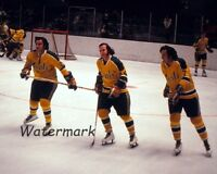 NHL Early 1970's California Golden Seals Pre Game Warm Up Color 8 X 10 Photo