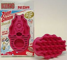Original Kong Zoom Groom Rubber Brush for Dogs - Soft & Strong