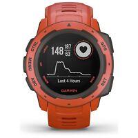 Garmin Instinct Rugged Outdoor GPS Watch Flame Red Wrist HR GLONASS 010-02064-02