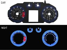 Blue/Black Glow Gauge Face Overlay For 2011-2015 Chevy Cruze V2 Racing Style