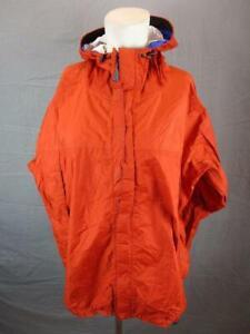 Marmot Size L Mens Orange Full Zip Nylon Waterproof Hooded Rain Jacket T417