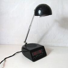 lampe reveil Vintage avec bras téléscopique 2 types d'éclairage Noir et chrome