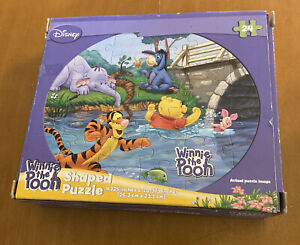 Disney Winnie the Pooh, Eeyore, Lumpy and Tigger Shaped Puzzle 24 Pieces