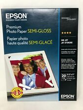 "Epson Premium Photo Paper Semi-Gloss, 8.5"" x 11"" - 20 sheets"