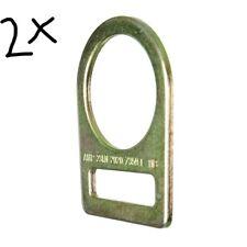 2 X Fusion Climb équipe large en acier au carbone D-Ring Gold MBS 23KN.