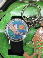 Disney George of the Jungle Limited Edition Fossil Watch and Key Chain New