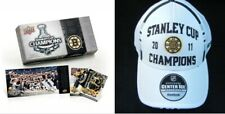 Boston Bruins 2011 Stanley Cup Champions Reebok Hat NHL NEW Upper Deck Card Set