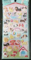 Puffy Dog Sticker Sheet 3D Raised 48+ Individual Stickers Craft Scrapbook Puppy