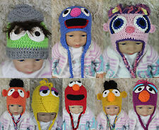 New Knit Crochet Sesame Street Hat Baby Child Hats Cap Newborn Photo Prop Hats