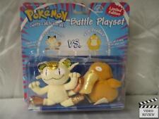 Pokemon Battle Playset - Meowth vs. Psyduck; dent, fade