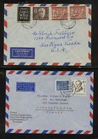Germany, Berlin  2  airmail covers  with some better stamps       H1207-04