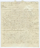 1791 FRENCH CONSULATE LETOMBE BOSTON HAITI NAVY LETTER POST REVOLUTIONARY WAR