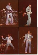 Elvis Presley 10 Photo Set: Lubbock, TX - Light Blue On Tour Jumpsuit 1972 & CD!