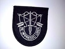 """Special Forces Patch Sewn On De Oppresso Liber Sewn on Or Iron 3"""" t x 2 3/4""""w"""