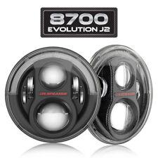 "JW Speaker 0554543 8700 Evolution J2 7"" Round LED Pair Jeep JK Headlight Black"
