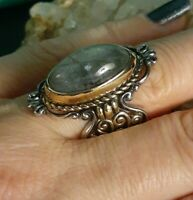 Carolyn Pollack Relios Sterling Silver Mixed Metals Labradorite Ring Size 7