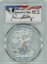 2015-W $1 Burnished Silver Eagle SP70 PCGS ED MOY signed