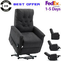 Electric Power Lift Recliner Chair Sofa Heavy Duty Motor Overstuffed Seat Back