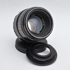 Helios 44-2 M42 2/58 58mm Objektiv mit Adapt. Mount F für Nikon F Helios-44-2