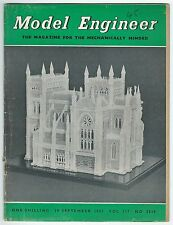 Model Engineer September 1957 Vol.117 No.2939 Percival Marshall & Co Ltd Good-