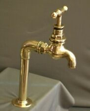 BRASS BELFAST SINK TAP, SINGLE DRINKING WATER TAP, RECLAIMED & FULLY REFURBED