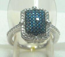 .01 ct Natural Blue Diamond Ring Platinum / .925 Size 5