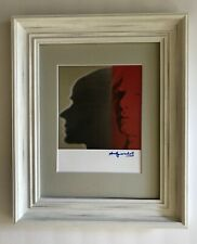 ANDY WARHOL ORIGINAL 1984 SIGNED SELF PORTRAIT PRINT MATTED TO BE FRAMED 11 X 14