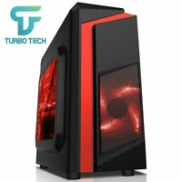 ULTRA FAST Quad Core Gaming PC Tower WIFI 8GB 1TB HDD Win 10 GT 710 2GB Graphics