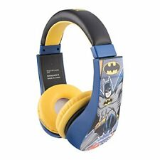 Awesome Batman Headphones for Kids w/ Padded Ear Cups & Kid-Safe Volume Limiter