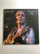 KATE WOLF Give Yourself To Love Live 2 LP Vinyl 3000 Kaleidoscope Records VG+