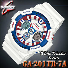 CASIO G Shock GA-201TR-7A White Tricolor Series Maritime Limited Model