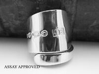 GEORGIAN ANTIQUE SOLID STERLING SILVER SPOON RING APPROVED SIZE J K L M N O